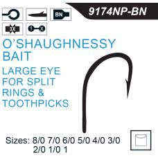 Mustad O'SHAUGHNESSY Hook 9174NP-BN