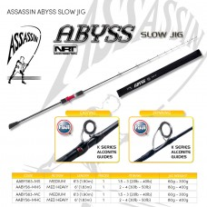 ASSASSIN ABYSS SLOW JIG 5'3ft Med 1.5-3oz 1pc Spinning