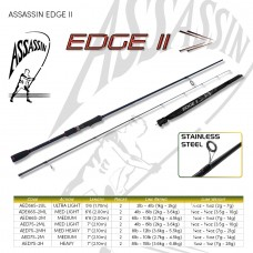Assassin Rod Reel Combo: EDGE II 6.6ft 2pc MED with SHIMANO SIENNA 3000 REEL