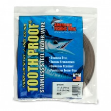 #10 ToothProof Stainless Steel Leader Wire, 124 lb (56 kg) 30FT 9.2M Brown