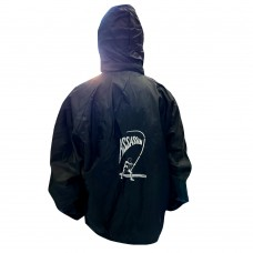 PURE-OFF SHORE/FISH ON TOWEL JACKETS   AVAILABLE COLORS ( BLACK ) WATER RESISTANT JACKET
