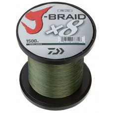 J-Braid 8X 1500m Dark Green  20LB 30LB & 50LB