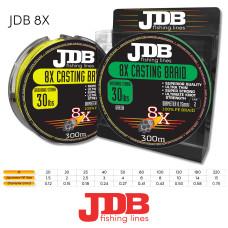 JDB 8X Braid 100lb 0.43mm 300m Yellow