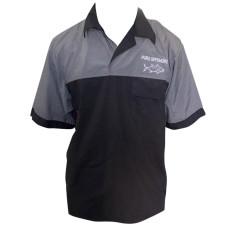 CLOTHING - UV SHIRTS SHORT SLEEVE SHIRTS WITH BUTTONS PURE-OFFSURE/RAPALA FISHING SHIRTS  BLACK/GREY