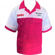 CLOTHING - UV SHIRTS SHORT SLEEVE SHIRTS WITH BUTTONS PURE-OFFSURE/RAPALA FISHING SHIRTS  RED/WHITE
