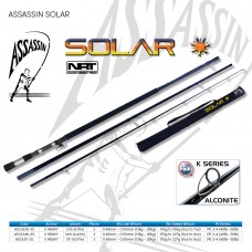 Assassin Rod Reel Combo: SOLAR SPIN 14.6ft 6-8oz H 3pc with OKUMA METALOID 90s Reel