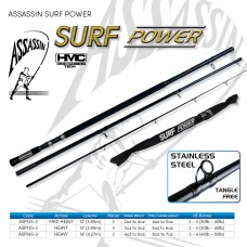 Assassin Rod Reel Combo: SURF POWER 13ft 5-6oz  3pc SPIN with ROVEX BIG BOSS 6000