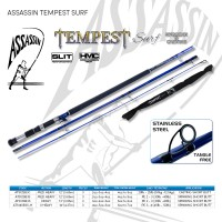 Assassin Tempest Surf 12ft Medium Heavy 3pc Short Butt Casting 4-5oz