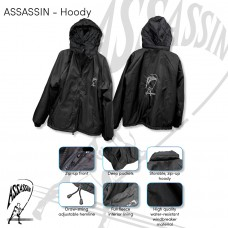 ASSASSIN CASUAL JACKETS with inside flease WATER RESISTANT JACKET AVAILABLE IN BLACK ONLY
