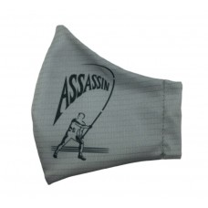 ASSASSIN 2-PLY FACE MASK - GREY